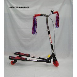 SCOOTER-BLACK RED