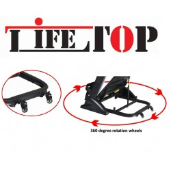 """LIFE TOP 4HP Motor Foldable Treadmill for Home/Office, 15% Auto Incline, 7"""" Console LCD with 160Kg's User Weight"""